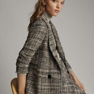 NEW Massimo Dutti Oversized Tweed Blazer Jacket 4